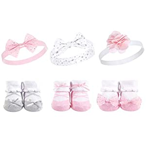Hudson Baby Girl Socks and Headband Giftset