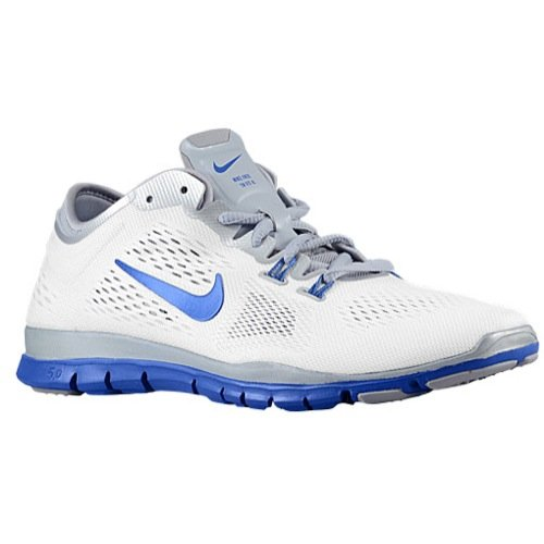 Nike Free 5.0 Tr Fit 4 Team Women's Athletic Shoes Size US 11, Regular Width, Color White/Blue/Silver by NIKE