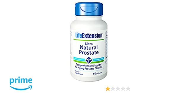 Life Extension Ultra Natural Prostate Softgels, 60 Count: Amazon.es: Salud y cuidado personal