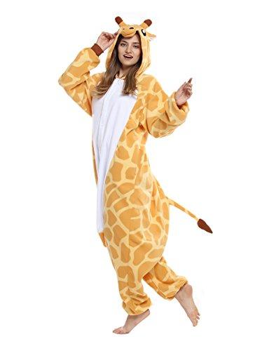 Anime Disney Characters ([Qute] Giraffe Kigurumi Pajamas- Unisex Costume Animal & Disney Character Onesie Pyjamas (L 165cm ~ 175cm (5'41