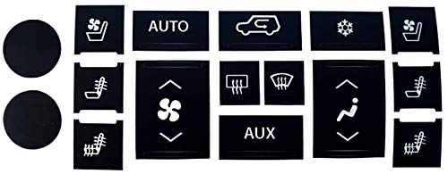AcButtons Cadillac Escalade AC Control Repair Kit | Easy to Install Vinyl Overlay Decals