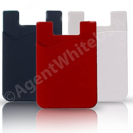 Amazon Agentwhiteusa Cell Phone Stick On Wallet For Credit