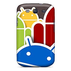 First-class Case Cover For Galaxy S3 Dual Protection Cover Android Logo