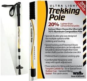 Lightweight Trekking Hiking Pole, 10oz Adjustable