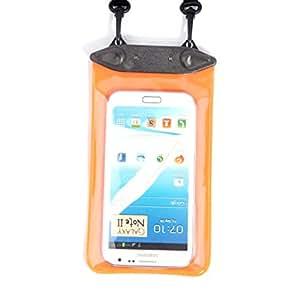 Orange Waterproof Case for Underwater Sport 17 x 10.5 cm High Capacity