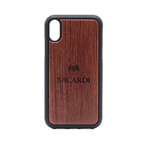Logo Bacardi - iPhone XR Case - Rosewood Premium Slim & Lightweight Traveler Wooden Protective Phone Case - Unique, Stylish & Eco-Friendly - Designed for iPhone XR ()