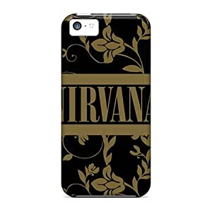 Apple Iphone 5c YcR11278IRMi Support Personal Customs Lifelike Nirvana Band Skin Bumper Hard Phone covers cases for Happy Christmas and Happy New Year -customcases88