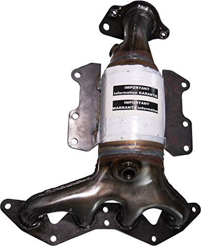 APDTY 18160-PLM-A00 Exhaust Manifold And Catalytic Converter Complete Assembly Fits 2001-2005 Honda Civic 1.7L (Not Legal In California or New York And Cannot Be Shipped To Those States) (Replaces Honda 18160PLMA00, 18160PLMA50)