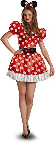 [Red Minnie Classic Adult Costume - Medium - Dress Size 8-10] (Mickey And Minnie Costumes Adults)