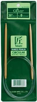 Clover Takumi Bamboo Circular 36-Inch Knitting Needles Size 10