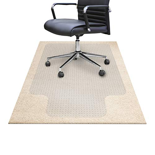 Chair Mats for Carpeted Floors - Shatter-Proof Carpet Protector for Desk Chair | Eco-Friendly Low/Medium Pile Office Chair Mat for Carpet | Clear- 36