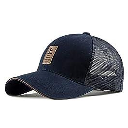Chennuo Mesh Cap Trucker Hat Mens Classic Adjustable Baseball Cap Summer Golf Sport Cap