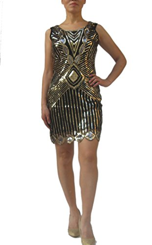 Art Deco Flapper Gatsby Dresses Costume of the Roaring 20's Twenties Style Prom ()