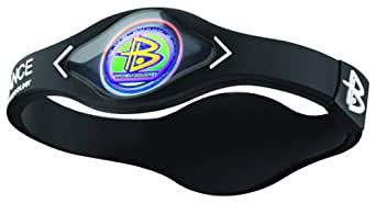 Power Balance IWSA09 Sport - Brazalete de silicona unisex multicolor Black w/White Talla:medium