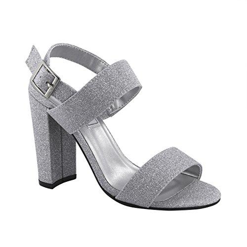 Touch Ups Women's Jordan Heeled Sandal Silver 8 M US ()