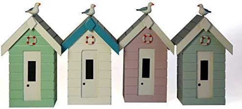 money box 3 colours one random colour supplied NAUTICAL Wooden Beach Hut Money Box