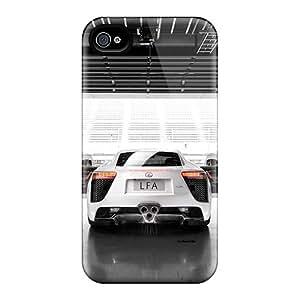 Iphone 4/4s Hard Back With Bumper Silicone Gel Tpu Case Cover Lexus Lfa