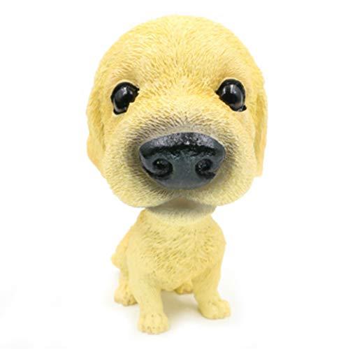 (OZUKO Bobbing Head Pug Dog Bobble Head Auto Car Dashboard Decors Toy Bulldog Ornaments (Golden Retriever))