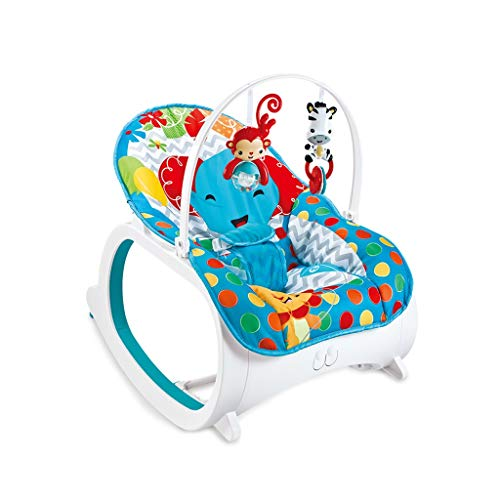 YANGXY Baby Rocking Chair, Multifunctional Electric Toddler Rocking Chair, Music Vibration Adjustable Baby Swing Chair, Bule