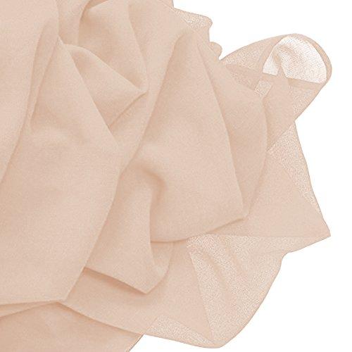 Brautjungfernkleid Damen Frauen Abend Kleid Irenephil Längen Fußboden Elegantes Beige der Partei Chiffon Gefaltetes 6ddwqPg