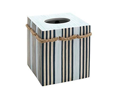 Zеnnа Hоmе Home Decor India Ink Seaside Serenity Tissue Box Cover, Coastal