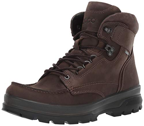 ECCO Men's Rugged Track Moc Toe High Gore-Tex Hiking Boot, Coffee, 45 M EU (11-11.5 US)