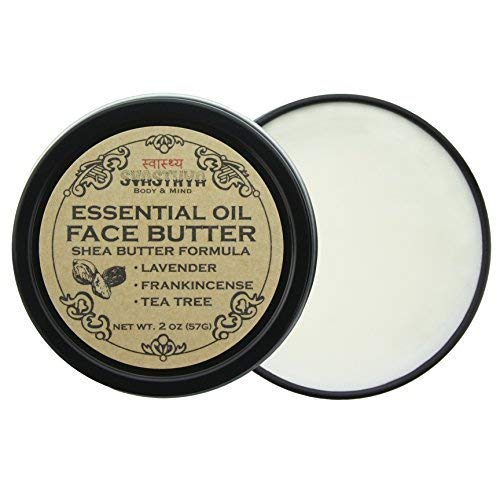 Svasthya Essential Oils Face Butter, with Lavender, Frankincense, and Tea Tree Oil