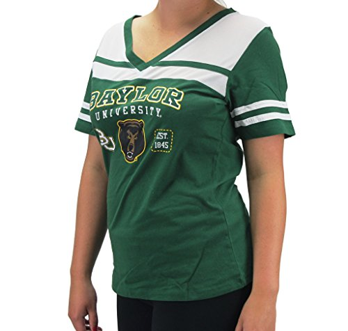 Creative Apparel Women' s Baylor Bears Green w/ White Mesh T-Shirt