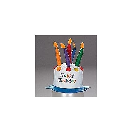 Fun Express Felt Childs Party Happy Birthday Cake Hat With Candles New