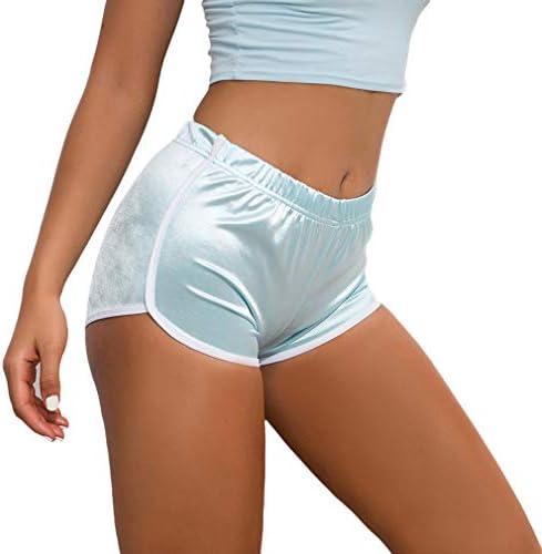 Pantalones Cortos Deportivos para Mujer Entrenamiento Yoga Verano para Hacer Ejercicio Trotar Gimnasio Pijamas Interior Casual Suelto El/ástico con Banda
