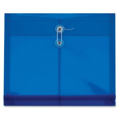 Globe-Weis Poly Envelopes, Side Open, 1.25-Inch Expansion, Letter Size, Blue, 5 Envelopes Per Pack (84522GW) by Globe Weis