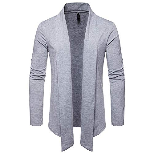 Beaded Sheer Gloves (2018 Limsea Men's Autumn Winter Solid Long Sleeve Turn-Down Collar Cardigan Top Blouse(Grey,M))