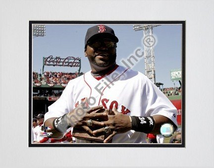 "David Ortiz ""2008 World Series Ring Ceremony"" Double Matted 8"" x 10"" Photograph (Unframed)"