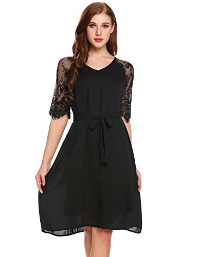 Buy black lace dress by laundry - 7