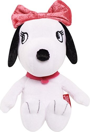 Bella Bow - Peanuts Mini Stuffed Belle - White with Pink Bow and Collar