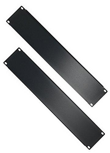 (EnEdge Blank Panel 2U Rack Mount Metal - 2 Pack )