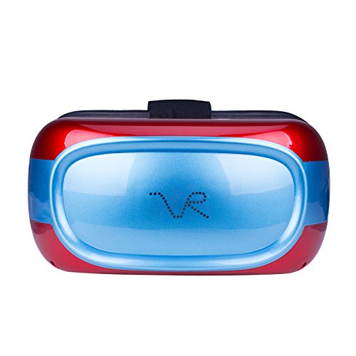 BM VR Headset All in One Virtual Reality Headset 360 Viewing Immersive support Wifi 3D Glasses Wifi TF Card Apps View for PC Youtube Google Play Supporrt Games Watch Movies (Red)