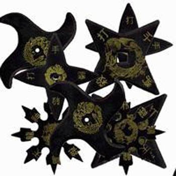 Eight Assorted Rubber Ninja Stars -
