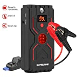 SUPERPOW G30 Car Jump Starters,1200A 12V Peak (Up to 6.5L or 5.0L Diesel Engine) Portable Auto Battery Booster Power Bank Connect Car Cigarette Lighter to Charge with 3.0 A Smart USB and LED lights(1200A) [2018 Newest version]