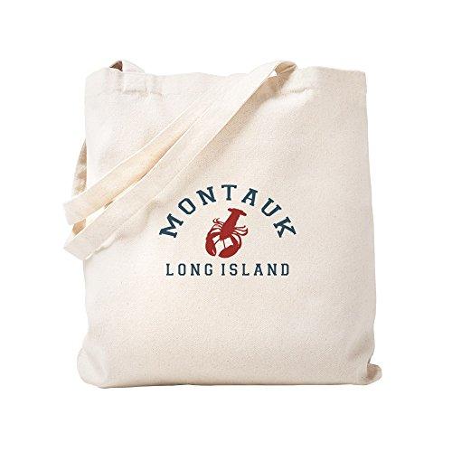 (CafePress Montauk - Long Island. Natural Canvas Tote Bag, Cloth Shopping Bag)