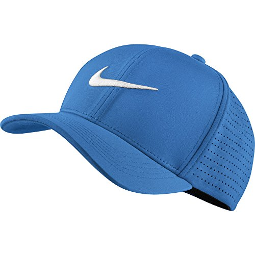 Nike Men's Classic 99 Fitted Golf Hat, Photo Blue, Medium/Large (Embossed Spandex Hat)