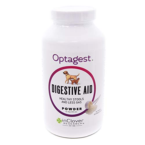 In Clover Optagest Organic Prebiotic and Natural Enzyme Powder for Healthy Stools and Less Gas, Without Foreign Probiotics. Daily Digestive and Immune Support For Dogs and Cats, -