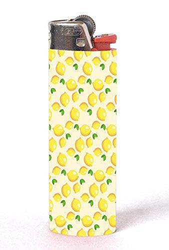 Lemon Lemon Lemons and More Lemons Pattern 2 PACK Vinyl Decal Wrap Skin Stickers for Bic Lighters by Moonlight Printing