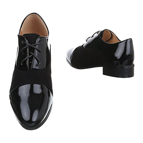 Ital-Design - Zapatos de vestir brogues Mujer Schwarz XQ315