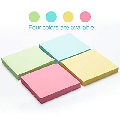 3x3 Inch Sticky Notes, 25 Pads Self-Stick Note Pad for Home, Office, Notebook, 72 Sheets/Pad