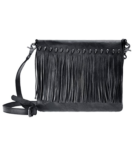 Bohemian Pouch Purse Bag Brown Women Tassel Dye Fringe Grey Tribal ZLYC Silver Dip Body Leather Bag Cross 0fAnwHB
