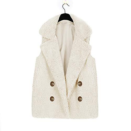 Cappotto Calsual Tasca Ladies Giacca Elegante Inverno Morwind Con Beige Gilet Maniche Giubbotto Senza Felpa Invernale Coat Parka Donna qx7wB0