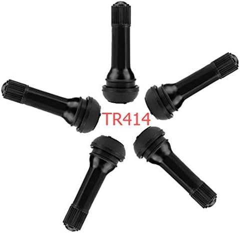 Qisf 10 Stück Ventile Reifen Snap In Gummiventile Ventile Tr412 Tr414 Ventilschaft Mit Staubkappen 5 X Tr412 5 X Tr414 Auto
