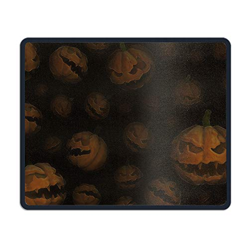 Mouse Pad UniqueHoliday Halloween Printed Mousepad Stitched Edge Non-Slip Rubber 7.08 (L)x 8.66 (W) inch ()