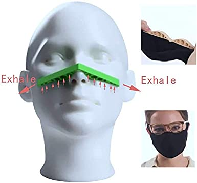 Prevent Eyeglasses from Fogging 5PCS Fog-Free Accessory for Face Anti-Fog Nose Bridge Strip Great Sealing One Size Fits All